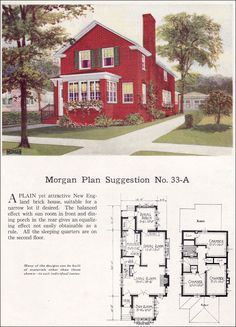 The gladstone 1923 standard homes company house plans of the morgan plan suggestion no 33 a 1923 morgan woodwork organization malvernweather Gallery