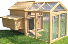 Chicken Coop Plans Free - Don't know about accessing the yard daily for maintenance, but like the concept