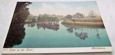 View on the River at Maidstone Kent Antique Postcard Postcards, River, Antiques, World, Painting, Art, Antiquities, Art Background, Antique