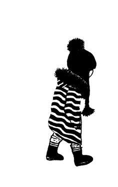 ulrike wathling kid illustration in black and white