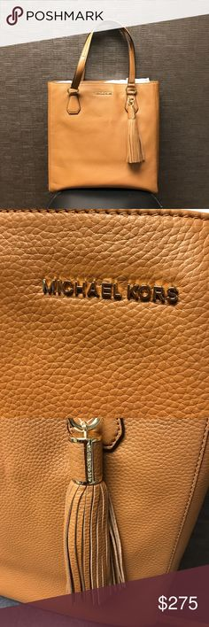 Michael Kors Bedford Tote Authentic Beautiful acorn leather Michael Kors Tote. NWT. 13x13 Michael Kors Bags Totes