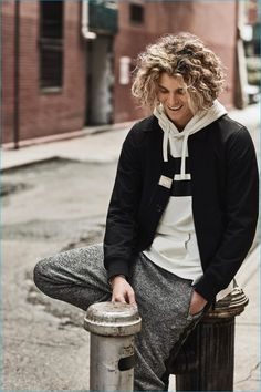 Jay Alvarrez embraces a relaxed attitude for Armani Exchange's fall-winter 2016 campaign.