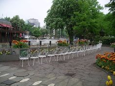 We don't force our chairs to be so orderly, as these in Tivoli Gardens, Denmark