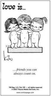 """""""Love is. friends you can always count on"""" comic strip by Kim Grove Casali - Carefully selected by GORGONIA www.it by LADY_VIOLA Love Is Cartoon, Love Is Comic, What Is Love, Love You, My Love, True Friends, Best Friends, Special Friends, Love Notes"""