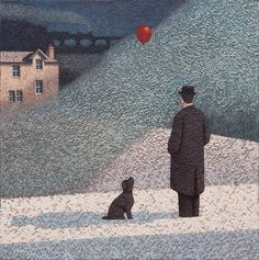 Catto Gallery 2016 — The Art of Mark Edwards Graphite Art, Snowy Forest, Man And Dog, Country Scenes, Magritte, New York Street, Dog Training, Surrealism, The Dreamers