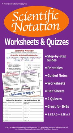 Do you wish for your students to really learn scientific notation and operations with scientific notation? Then this is a great product for your students on scientific notation! Perfect for interactive notebooks. This product includes Operations with scientific notation!  This may be used for GATE in your classroom also. School Resources, Teacher Resources, 9th Grade Math, Middle School, High School, Scientific Notation, Secondary Math, Wishes For You, Interactive Notebooks