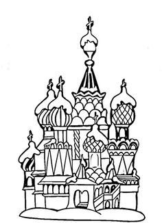 Basils Cathedral Moscow Coloring Page From Russia Category Select 28148 Printable Crafts Of Cartoons Nature Animals Bible And Many More