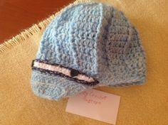 Crochet Hat horgolt fiú sapka 2-3 éves méret