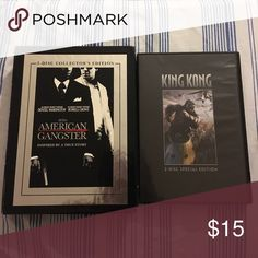 SPECIAL MOVIE BUNDLE Both collector edition movies. American Gangster and King Kong Other