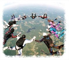 Be a licensed sky diver. Only 9 jumps away...