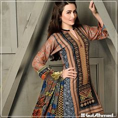 Gul Ahmed Winter Pashmina & Velvet Collection 2016 | BestStylo.com