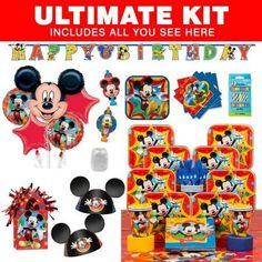 Mickey Mouse Ultimate Hoopla Kit (Serves 8) - Party Supplies