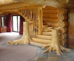 Love the look of this but would you end up tripping over the roots every time you went up the stairs.  I think I'm much too clutzy for this design.