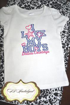 I LOVE Dallas Cowboys Shirt by BIndulgedBoutique on Etsy 932787440