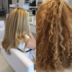 Before & after using only a round brush & blowdryer