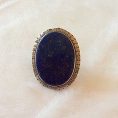 Charles Albert Lapis Lazuli & Sterling Silver Ring Purchased from Tibet Shining. This is a BOLD BOHO Style Ring in .925 Sterling Silver & Authentic Lapis Lazuli Gemstone. Not for the dainty.  Exquisite Piece & definitely a Statement Ring.  SERIOUS BUYERS ONLY! Charles Albert Jewelry Rings