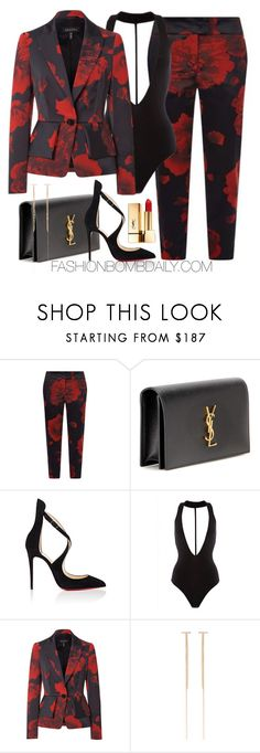 """Untitled #1900"" by dnicoleg ❤ liked on Polyvore featuring ESCADA, Yves Saint Laurent, Christian Louboutin and ZoÃ« Chicco"