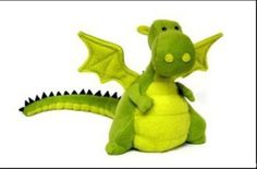 Yoki the Dragon Soft Toy Pattern   YouCanMakeThis.com Suitable to mod for Dink