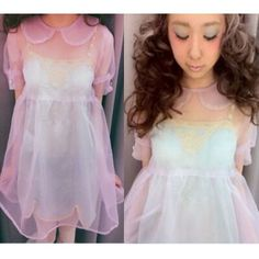 Harajuku Transparent Sheer Collared Dress · Harajuku fashion · Online Store Powered by Storenvy
