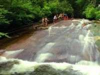This NC waterfall is an incredible natural slip 'n' slide! Must do when we move to VA :)