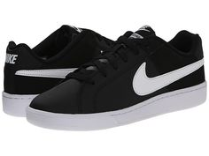 SEE IT - Nike Court Royale (Black/White) Women's Classic Shoes Keep the style at its prime with the Court Royale from Nike. Contrast Nike Swoosh logo and callout at heel. Nike Free Shoes, Nike Shoes, Nike Footwear, Women's Shoes, Logo Shoes, Adidas Shoes Outlet, Black And White Shoes, Womens Fashion Stores, Vegan Shoes