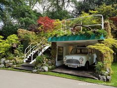 The 'Senri-Sentei - Garage Garden' designed by Kazuyuki Ishihara at the Chelsea Flower Show on May 2016 in London, England. (Photo by Jack Taylor/Getty Images)