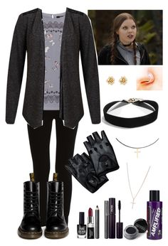 """Inspired by Ellen from Nowhere Boys"" by crazydirectionergirl ❤ liked on Polyvore featuring VILA, Oasis, Dr. Martens, New Look, Manic Panic NYC, Burberry, INIKA, Butter London, Marc by Marc Jacobs and Giorgio Armani"