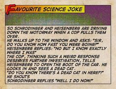 Chemistry humour on Schrodinger's cat and Heisenberg's Uncertainty Principle :)