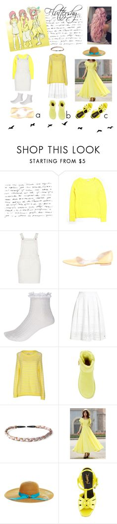 """Best of Three: Fluttershy"" by la-vie-en-couleur ❤ liked on Polyvore featuring Gap, River Island, Manolo Blahnik, Superdry, MV Maglieria Veneta, UGG Australia, Sage et Sauvage, Betsey Johnson and Yves Saint Laurent"