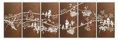 Tropical Bird Sequence Outdoor Laser Cut Wall Art $5290
