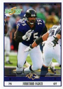 ogden ravens football card   BALTIMORE RAVENS - Jonathan Ogden #22 SCORE 2005 NFL American Football ...