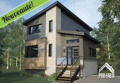 Pro-Fab | Constructeur de maisons modulaires, usinées, préfabriquées | Modèle Altura