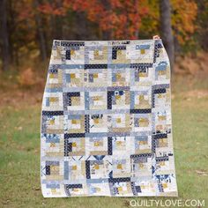 355 Best Log Cabin Quilts images in 2019   Quilts, Bedspreads, Log ... 8083707197da