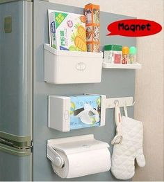 Kitchen Tool Magnetic Refrigerator Combination Storage Rack 5 Sets #Unbranded