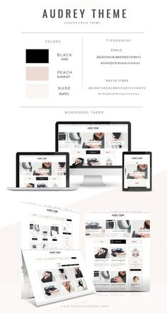 Today I would like to introducing Audrey new feminine Wordpress theme in my shops. This Wordpress is thought for fashion and beauty blogs