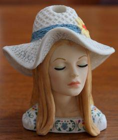 "Cameo Girls Judith ""Eve Folkfest FINERY"" 1973 Lady Head Vase 2000 Edition"