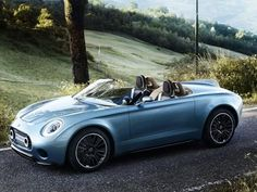 Mini have unveiled the beautiful Superleggera Vision, a perfectly designed roadster. Created by MINI and Touring Superleggera, the unique model blends Italian flair with MINI's elegant and authentic British styling to create timeless aesthetic appeal Royce, Supercars, Jaguar, Peugeot, Lamborghini, Ferrari, Convertible, Roadster, Mini Countryman