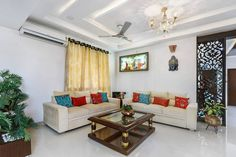 tangerine turfs indian living room Indian Living Rooms Ideas for Your Home a New Look Interior Fit Out, Modern Interior, Rooms Ideas, Indian Living Rooms, Living Room Flooring, Floor Cushions, Living Room Designs, Furniture