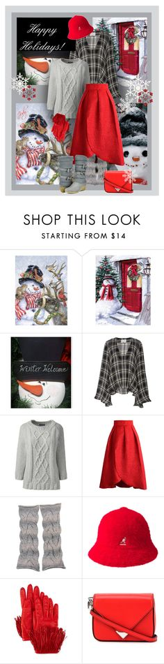 """""""Snowman Dressing II"""" by judymjohnson ❤ liked on Polyvore featuring Beaufille, Lands' End, Chicwish, NOVICA, kangol, Diane Von Furstenberg, Alexander Wang and TC Fine Intimates"""