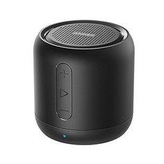 Black Mini Bluetooth Speaker Anker SoundCore Portable 15-Hour Playtime 20 Meter