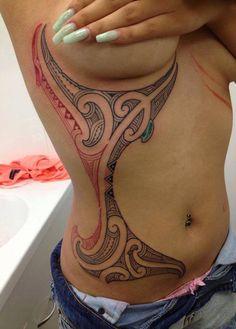 Maori style tattoo ribcage tattoo ideas тату, с тату, идеи дл Maori Tattoos, Maori Tattoo Meanings, Tatau Tattoo, Polynesian Tribal Tattoos, Hawaiianisches Tattoo, Maori Tattoo Designs, Marquesan Tattoos, Face Tattoos, Badass Tattoos