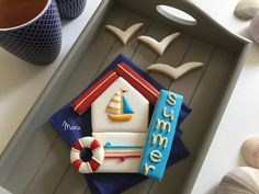 "#COOKIE CONNECTION ALERT: Learn how to make this simple but stunning nautical cookie platter in the latest edition of ""Made by Manu"". COOKIES AND PHOTO BY MANU."