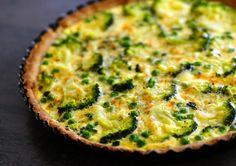 Celozrnný koláč se špenátem a brokolicí