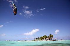 Upside down in The Caribbean... Credit: Sabrina Zimmermann