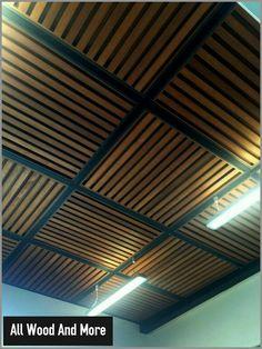 Wood And Laminate Pergola Ideas Even though historical within idea, this pergola has Patio Ceiling Ideas, Pallet Ceiling, Ceiling Tiles, Ceiling Design, Wall Design, Dalle Pvc, Wood Pergola, Pergola Screens, Diy Pergola