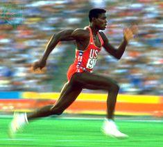 """Carl Lewis, apodado """"El Hijo del Viento"""", ganó 10 medallas olímpicas (9 oros) en Los Angeles 84, Seúl 88, Barcelona 92 y Atlanta 96"""
