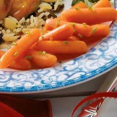 Sweet Carrots Recipe -Here's a flavorful way to dress up carrots without a lot of fuss. Simply steam the good-for-you veggies, then season with butter, brown sugar, vinegar and a sprinkling of chives. The carrots are not only colorful, but they taste good, too.
