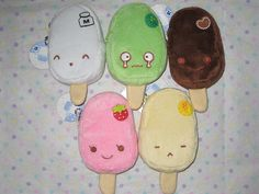 Kawaii ice cream popsicles