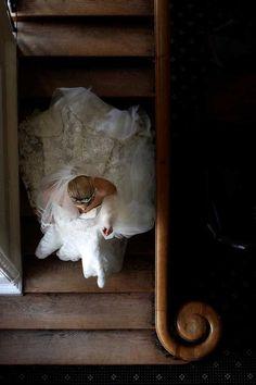 Beautiful staircase at Boreham House wedding venue
