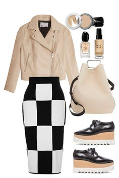 """""""Derek Lam 10 Crosby Checkerboard Knit Skirt"""" by thestyleartisan ❤ liked on Polyvore featuring STELLA McCARTNEY, Bobbi Brown Cosmetics, T By Alexander Wang, 10 Crosby Derek Lam, Urban Decay, La Bella Donna, 3.1 Phillip Lim, Giorgio Armani and TrickyTrend"""